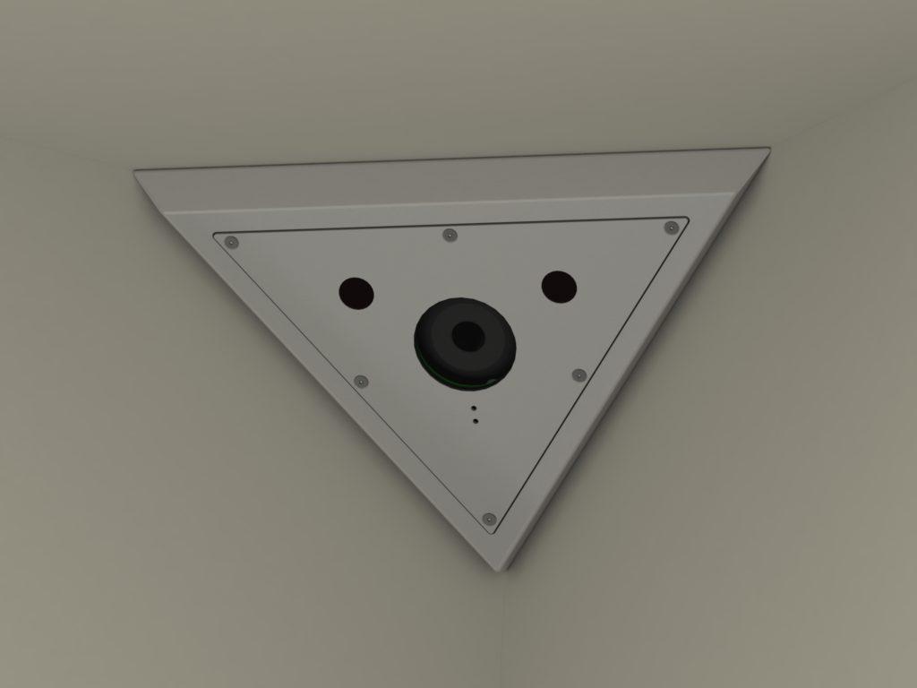 CMD3 camera in a room corner